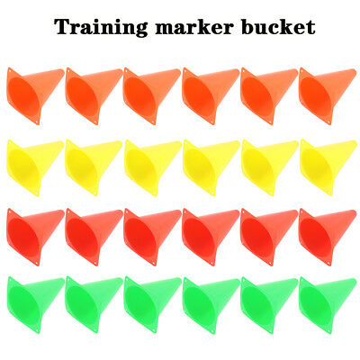 "6X Marker Cones 8"" Sport Soccer Rugby Football Tennis Basketball Training Marker"