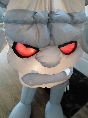 """5"""" Tall Gemmy Lighted Haunted Gargoyle Halloween Airblown Inflatable """"AS IS"""""""