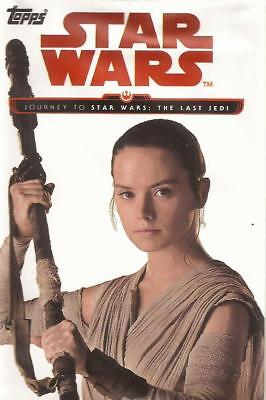 Topps 2017 Star Wars Journey Last Jedi Complete 110 Card Blue Set with Pack