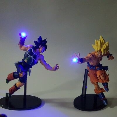 Dragon Ball Z Action Figures Son Goku Burdock Kamehameha Led Light 150mm Anime