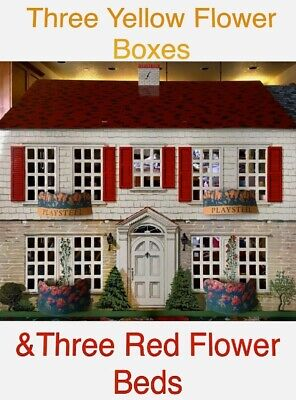 3 Of EACH 1948 PlaySteel DollHouse WindowBoxes & FlowerBeds WOOLWORTH Exclusive!
