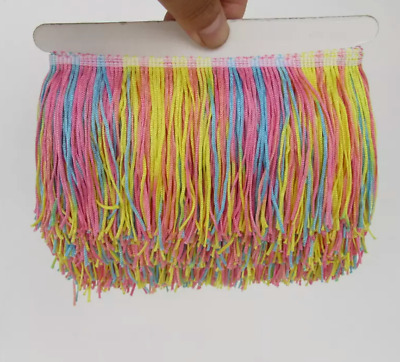 Pastel Mix 10cm Braid Trim Tassel Fringe Lace Price per 30cm DIY Craft Clothing