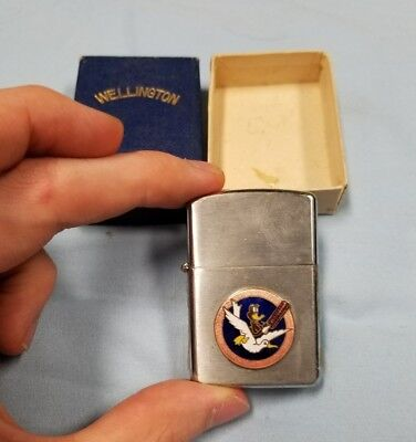 Very Rare 57th Weather Recon Squadron Hawaii Wellington Lighter Mint in Box