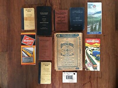 Lot of Railroad Train Employee Books, Brochures, Other