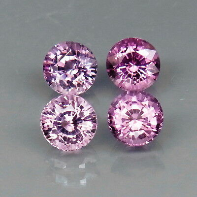 Round Diamond Cut 5.1 mm.Good Color&Full Fire Fancy Color Spinel 4Pcs/2.72Ct.