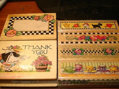 Mary Engelbreit Rubber Stamps New And Used Thank You Border