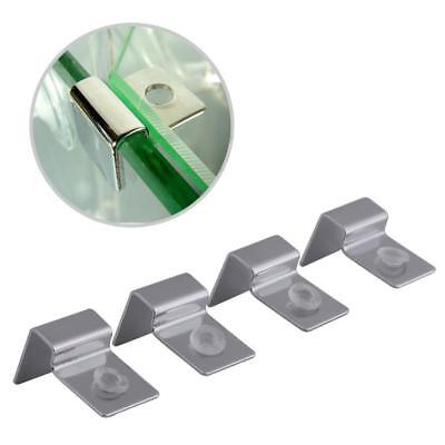 4X 5681012mm Stainless Steel Aquarium Fish Tank Glass Cover Clip,Holder^