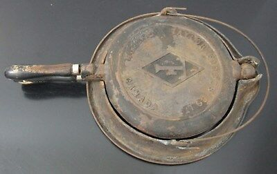 Antique Taylor Forbes Co Ltd Cast Iron Waffle Iron With Stand Guelph Canada