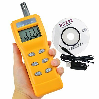 PORTABLE DIOXIDE METER CO2 Monitor Indoor Air Quality Formaldehyde