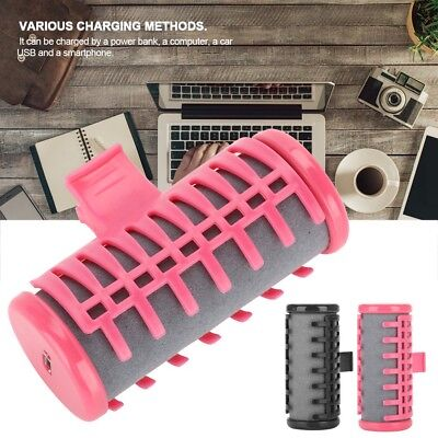 USB Wireless Electric Heated Roller Curling Roll Hair Styling Curler Tube Tools