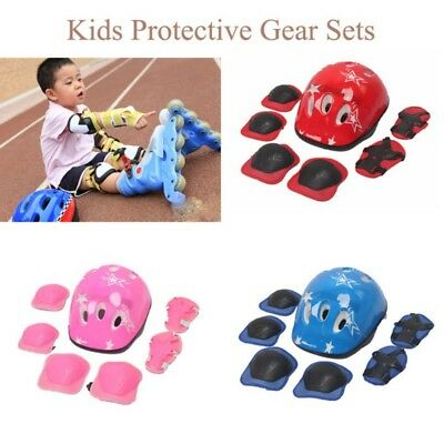 Kids Cycling Roller Skating Protector Gear Pad Guard Set for Knee Elbow Wrist AU