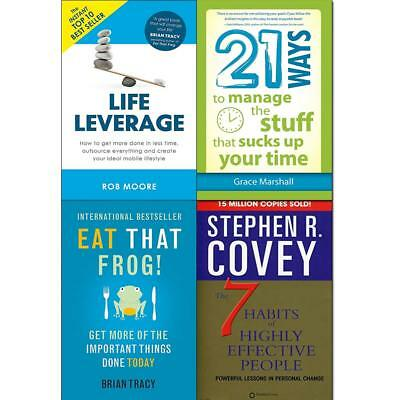 21 Ways to Manage the Stuff Life Leverage Get More Done 4 Books Collection Set
