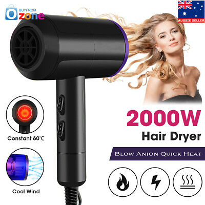 2000W Professional Salon Anion Hair Dryer Hairdressing Diffuser Blow Quick Heat