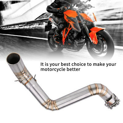 Motorcycle Exhaust Middle Pipe Stainless Muffler Kit for KTM Duke 390 2013-16 ZY