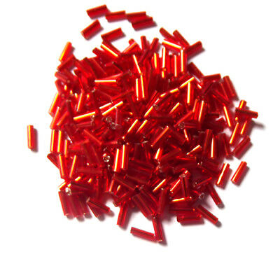 1400pcs 2x6mm Hot Sale Jewelry Findings DIY Tube Red Loose Glass Seed Beads