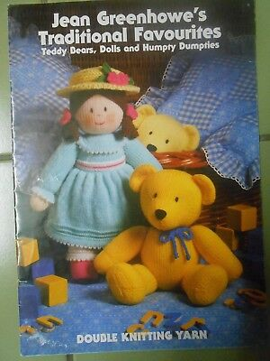 Jean Greenhowe's Traditional Favourites Bears Dolls & Humpty Dumpties Knitting