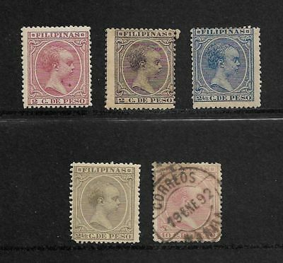 PHILIPPINES 1890 Baby, mint and used