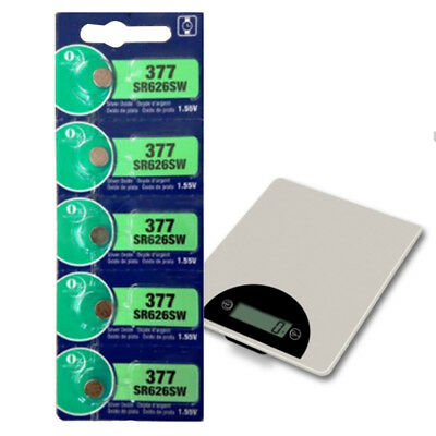 5pcs 1.55V Silver Oxide Cell Button-type for Watch Batteries AG4 377 SR626SW AU