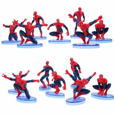 7Pcs/Set Spiderman Spider-Man Action Figure Cake Topper Kids Gift Toy Collection