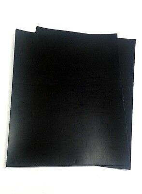 "Silicone Rubber Sheet US Hi-Temp Black 1/8'' Thk x 7"" x 11"" Rect 60 Duro"