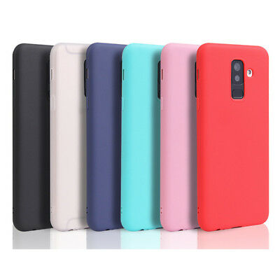 For Samsung Galaxy A6 A8 Plus 2018 360° Protect Slim Silicone Rubber TPU Case
