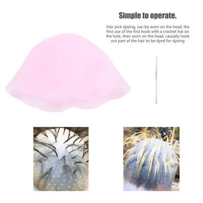 Reusable Silicone Dye Hat Hair Color Highlighting Hairdressing Cap + Hook se