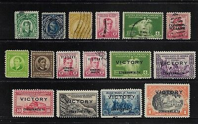 PHILIPPINES, US Administration, mixed collection, 1906-1945, used & mint