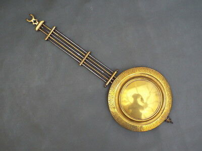 Antique or vintage brass & metal Vienna wall clock pendulum spares parts