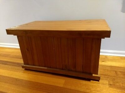 Wooden toy box/ blanket box