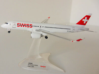 Bombardier CS300 SWISS INTERNATIONAL AIR LINES 1/400 Herpa 562614  C-Series
