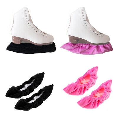 2 Pairs Terry Cloth Ice Hockey Figure Skate Blade Guards Protector Covers
