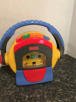 Vintage 1999 Fisher Price Tuff Stuff Cassette Tape Player-Recorder w/Microphone