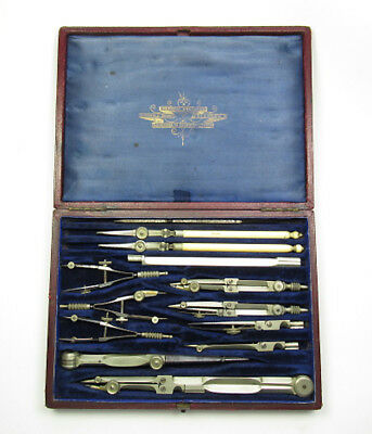 Sir Frederick Stewart's  Technical Drawing Instrument Set