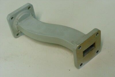 4 Inch WR75 Waveguide7/8 inch Offset H-bend H-plane