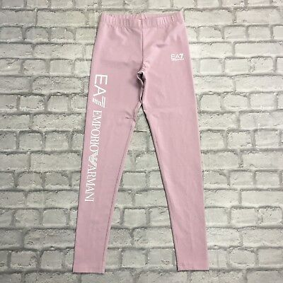 Ea7 Emporio Armani Ladies Uk Xxs Mauve Leggings Casual Activewear Sportswear Gym