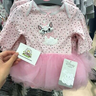 Disney Baby Primark Girls The Aristocats Marie Kitten Pink Tutu Dress Bodysuit