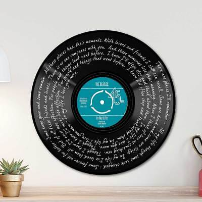 The-Beatles In My Life Song Lyric Art Poster Print  Record Vinyl Lyrics Song
