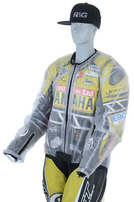 R&G Waterproof Rain Jacket - Clear Goes over Jacket Ideal for track use