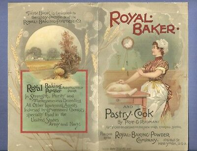 1890 Printers Proof Sample Cover ROYAL BAKING POWDER PASTRY COOK