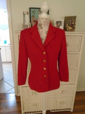 ST. JOHN Collection by Marie Gray Pre-owned 2 Piece  Deep Red Suit Size 4