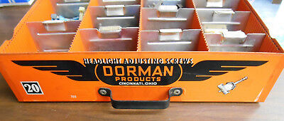Vintage Dorman Display Drawer Parts Jobber Stock Cabinet Garage Shop Mancave