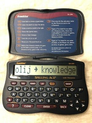 Franklin SA-206 SPELLING ACE Electronic Handheld Spelling Aid with Thesaurus