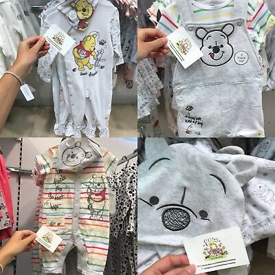 Disney Baby Primark Winnie The Pooh Outfit Set Bib Hat Boys Casual Clothes Gift