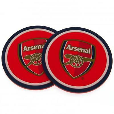 Arsenal FC Official Crested 2 Pack Coaster Set The Gunners Present Gift 2PK
