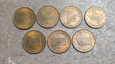 Estate Lot of 7 Collectible Souvenir State coins / Medallions / Tokens!!