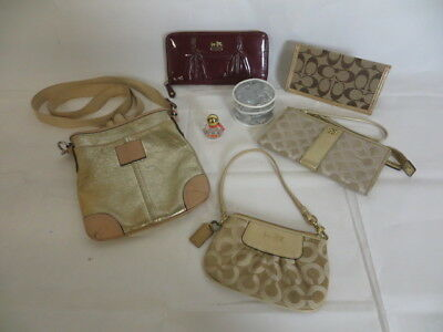 COACH LOT! Wristlets/Wallets/Crossbody Bag/Perfume / Gold/Silver-Color Hardware