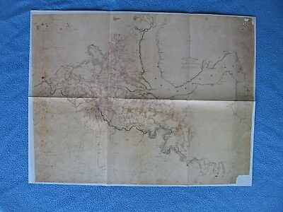 """Civil War Map - """"General Hooker's Route to Chancellorsville, Field of Occupation"""