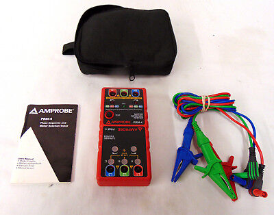 Amprobe Prm-4 Phase Sequence And Motor Rotation Tester