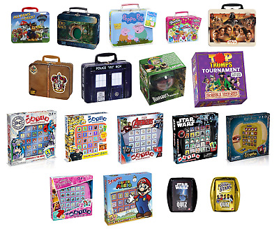 Top Trumps Harry Potter Star Wars Football Cards-Board Games Collectors Tin