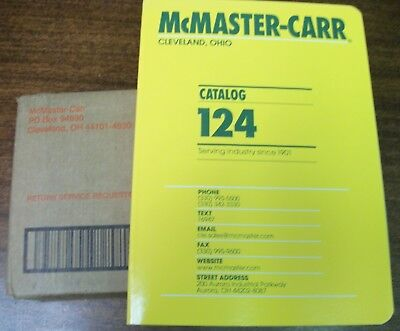BRAND NEW McMaster-Carr Supply Company Catalog Number 124 Cleveland, OH
